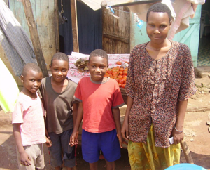Beneficiaries of the A-Z microfinance scheme; Nalongo, Kato and Waswa, all HIV infected and living positively