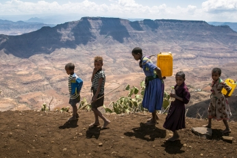 Concern Worldwide is trucking thousands of gallons of clean water to some of the most drough-affected communities in the Amhara region of Ethiopia. In some places it hasn't rained properly for three years and all water sources have dried up. Some people walk up to five hours a day to collect water.