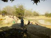 Collecting water during Tabora's dry season